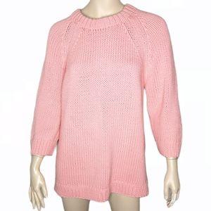 H&M Raglan 3/4 Sleeve Soft Chunky Knit Sweater